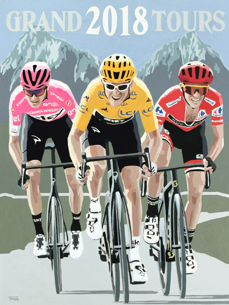 Grand Tours 2018, painting by Simon Taylor
