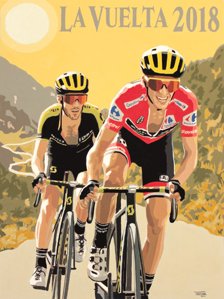 La Vuelta 2018, painting by Simon Taylor