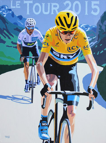 Tour de france 2015, painting by Simon Taylor