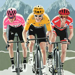 Grand Tours 2018, gouache on paper 36 x 48cm by Simon Taylor - £750.00
