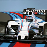 Bottas Williams painting on canvas by Simon Taylor