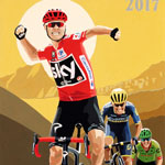 Cumbre del Sol, gouache on paper 36 x 48cm by Simon Taylor - Private Commission for Chris Froome