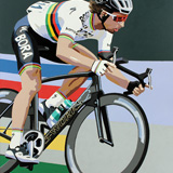 Peter Sagan World Champion painting on canvas by Simon Taylor