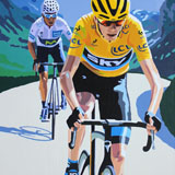 Tour de France 2015, painting on canvas by Simon Taylor