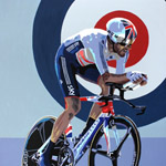 Bradley Wiggins World Time Trial Champion 2014 painting on canvas by Simon Taylor